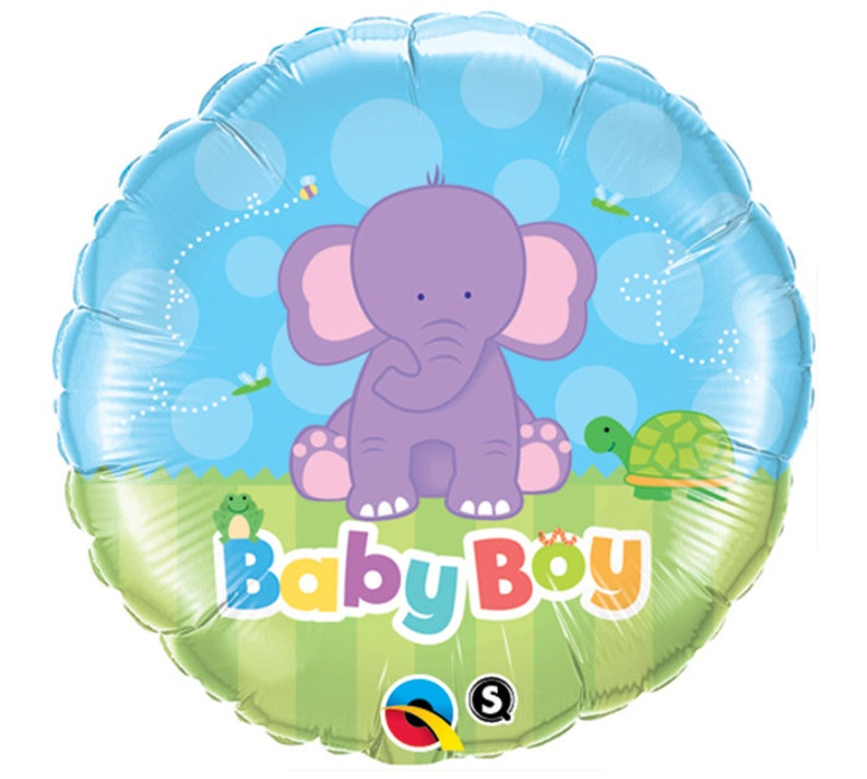 "18/"" Boys Blue Elephant Foil Helium Balloon Baby Shower Party Decoration Supplies"