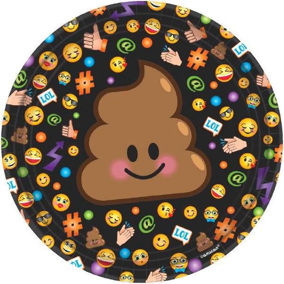 LOL Emoji Dessert Plates 8ct Birthday Party Cake Table