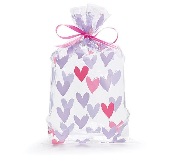 Heart Doodles Cello Treat Bags [10ct]