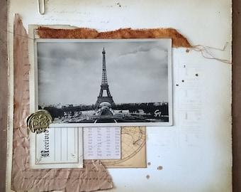 Vintage Paris Collage