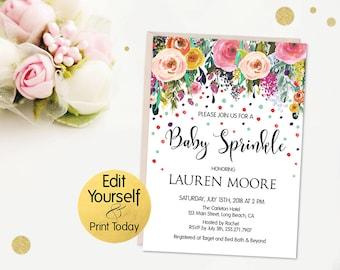 baby sprinkle invite etsy