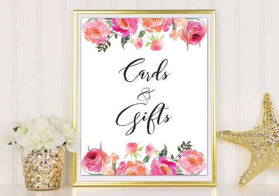 Gift Table Sign Cards And Gifts Sign Boho Wedding Reception Etsy