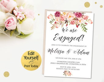 Engagement invites Etsy