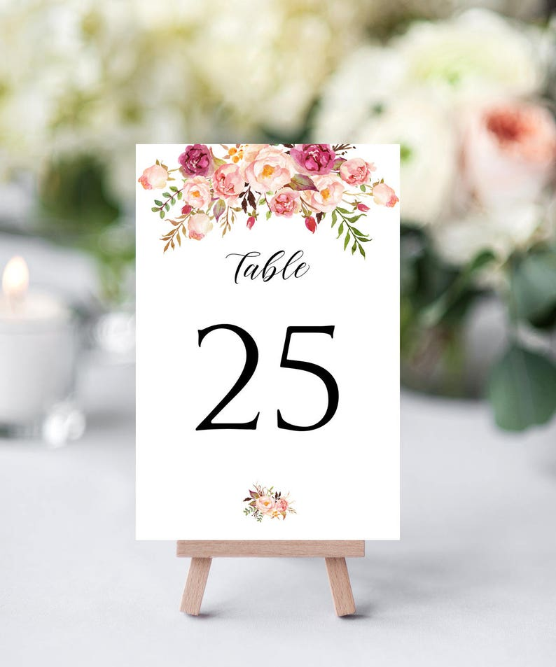 Table Card Numbers Table Numbers 21-40 Table Number Signs bridal shower table numbers for wedding Table Numbers for Wedding Table Numbers Wedding