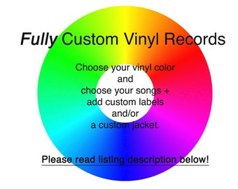 """FULLY Custom 12"""" One Sided Mixtape Vinyl Record - Choose Your Color and Choose Your Songs - 22 minutes and 6 tracks"""