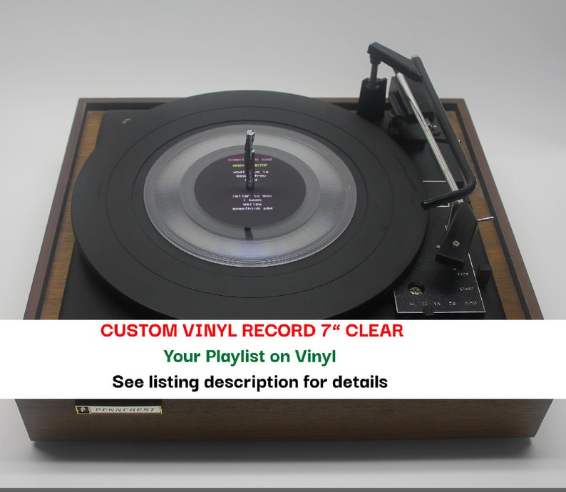 7 Mixtape Vinyl Record Small Hole Clear or Black fully image 0