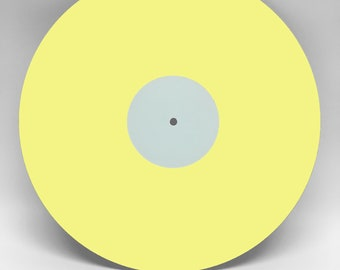 """Bright Yellow 12"""" Custom Vinyl Record, Your Best Playlist on Vinyl, 6 tracks and 22 minutes per side (max)"""