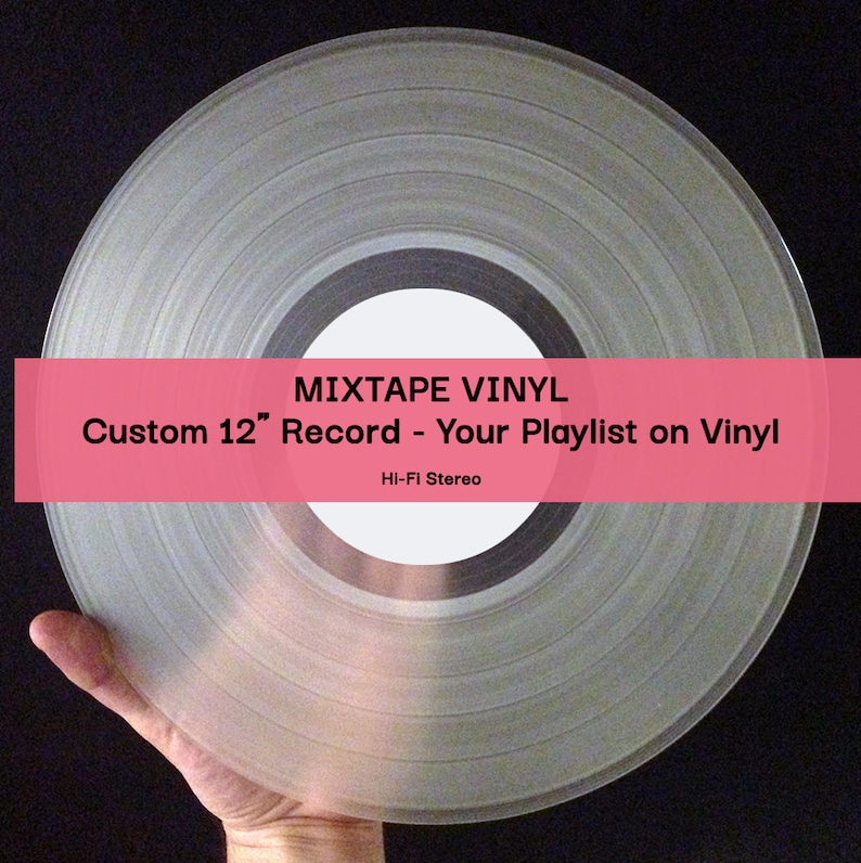 12 Mixtape Vinyl Record Two Sided CLEAR your playlist image 0