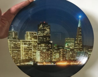 """Picture Disk 12"""" Mixtape Vinyl Record YOUR PICTURE on VINYL with Your Best Playlist, One Sided 6 tracks and 22 minutes"""