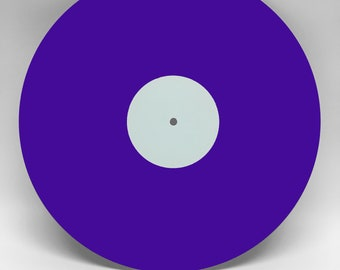 Dark Purple Custom Vinyl Record, Your favorite songs on vinyl, up to 22 minutes and 6 tracks per side