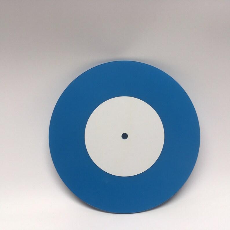 7 Mixtape Vinyl Record Small Hole BLUE fully custom image 0