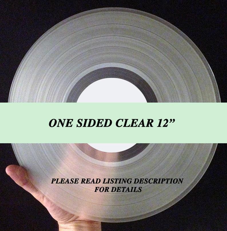 12 Mixtape Vinyl Record One Sided Clear fully custom image 0