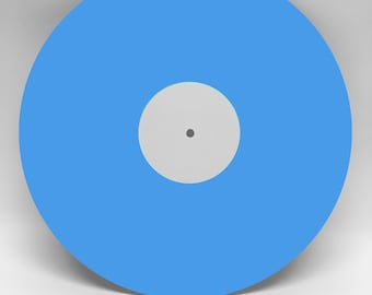 """12"""" Custom Mixtape Vinyl Record BLUE ONE SIDED, Your Songs on Custom Vinyl, 22 minutes and 6 tracks total"""