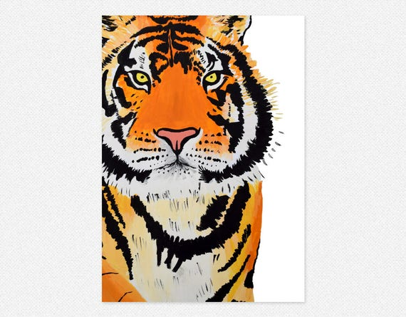 photo regarding Printable Tiger Pictures called Printable tiger artwork print, tiger wall artwork, immediate down load, wild animal artwork