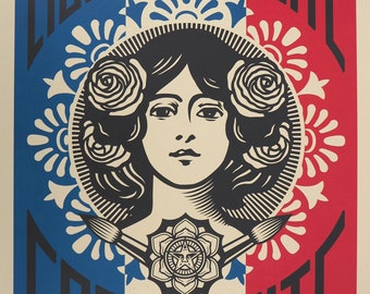 Shepard Fairey Obey Giant We The Future Are Earth Guardians Print 11x17