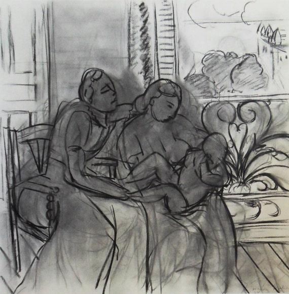 Henri Matisse Drawings New York Displays Original Vintage Etsy