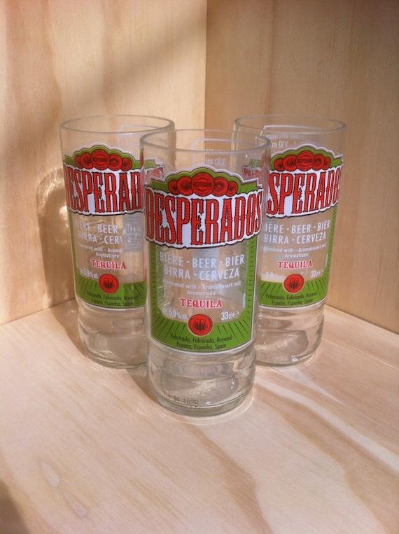 Satz Von 3 Recycling Bier Flasche Desperados Glaser Etsy