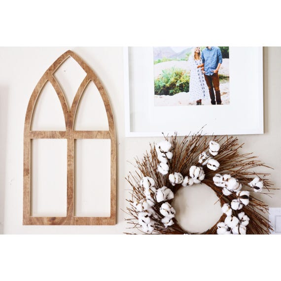 Small Vintage Church Style Wooden Arch Window Frame Etsy