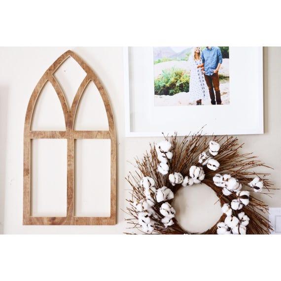 Marco de ventana de arco de madera de estilo Vintage | Etsy