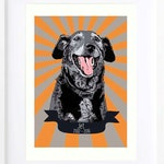 One of a kind custom pet portrait gift for him, Pop art birthday gift for husband
