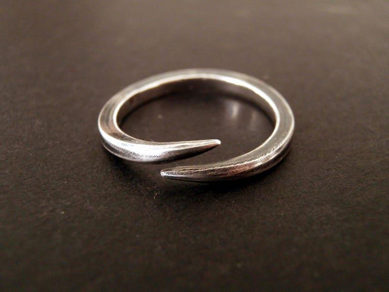 stacking ring Sterling Silver ring wrap around ring Minimal ring thin ring Fay ring thorn ring,