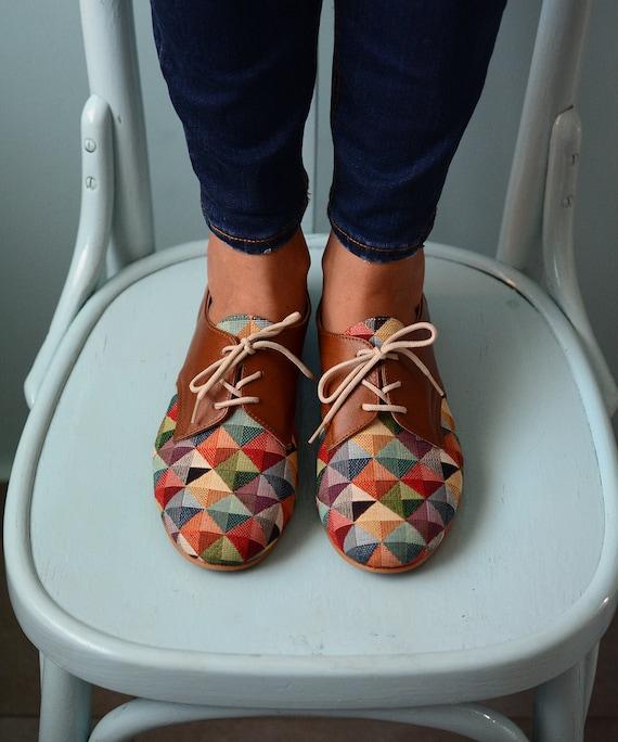 Oxford Leather Handmade Women Shoes Unique shoes