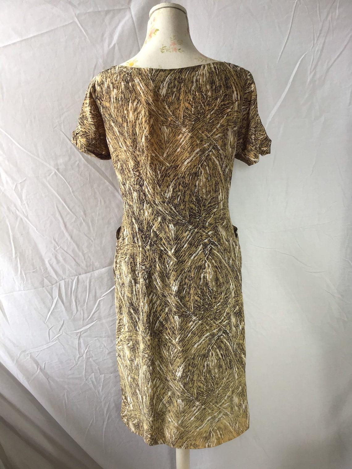 1950's Atomic Print Dress by Mercia  SIZE M UK  12/14