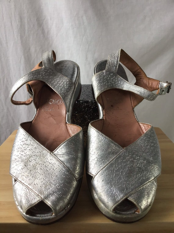 1940s Silver Wedges By Dolcis UK Size 7