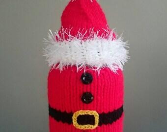 Santa Candle Cosy, Father Christmas Candle Cozy,Santa Hat Home Decor -Christmas Gift