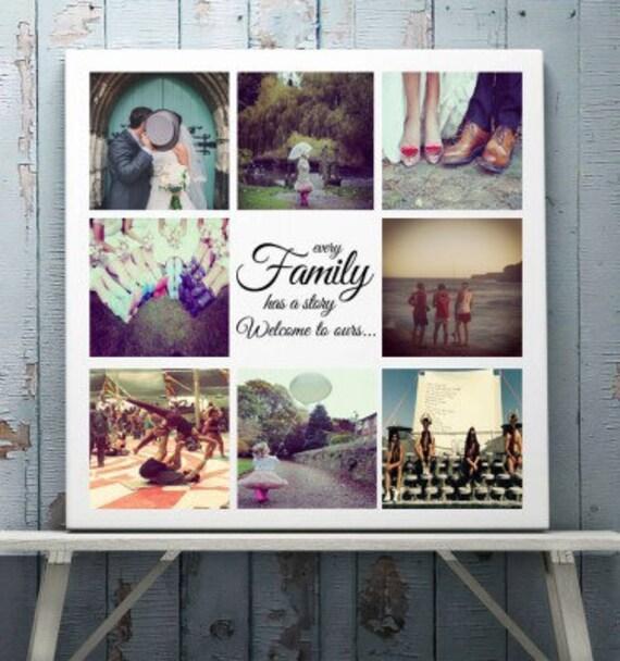 Photo 8 personnalisé collage toile