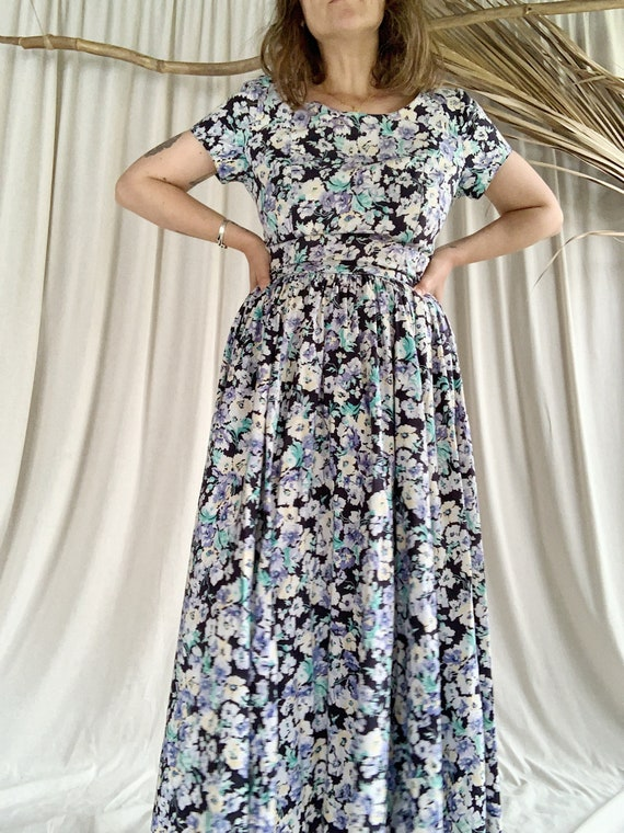 90s Floral Laura Ashley Cotton Dress