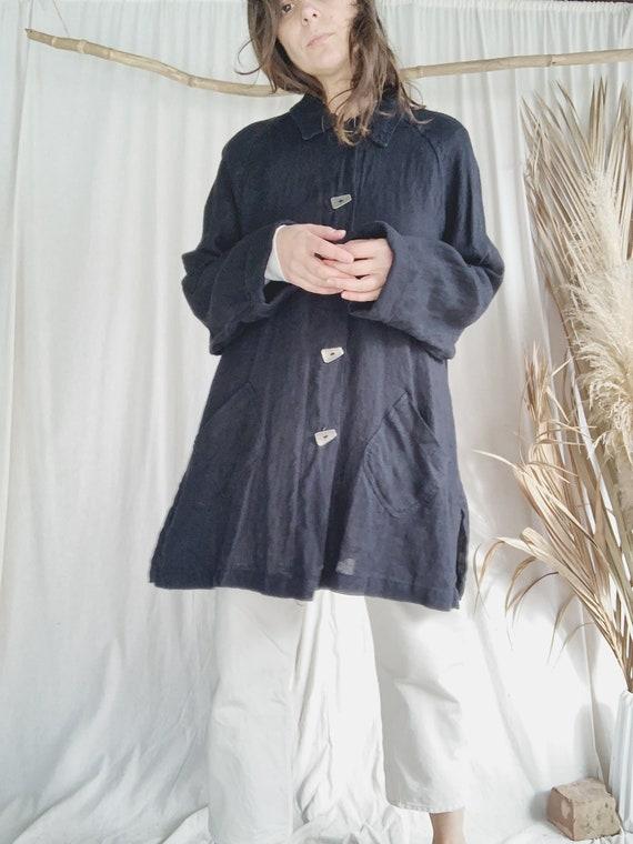 Linen Minimalist Swing Jacket