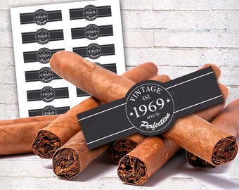 photograph regarding Free Printable Cigar Bands titled Cigar labels Etsy