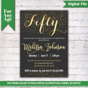 10 60th Theme Birthday Party Invitations Invites Kids Adults Men//Women i016