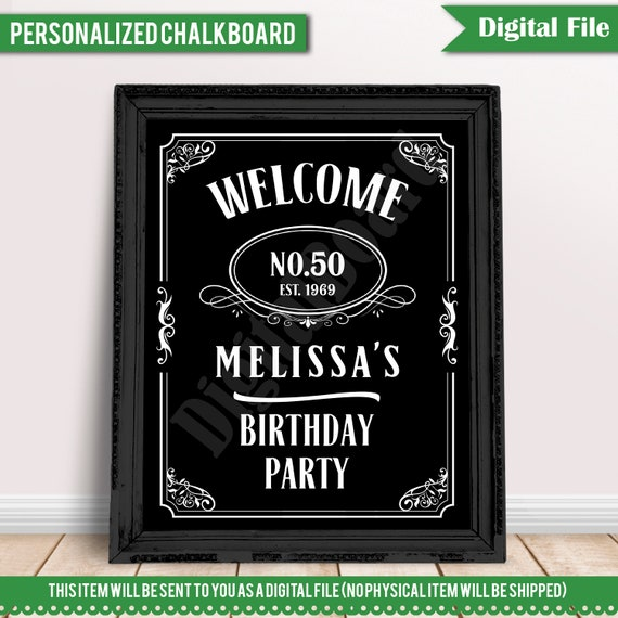 PERSONALIZED Aged to Perfection Woman/'s Birthday Chalkboard 60th Birthday Decor 60th Birthday Board File