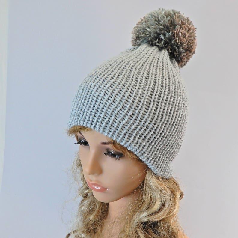 ccf0420ce2a69 Winter beanie women Knit beanie hat Pom pom beanie women