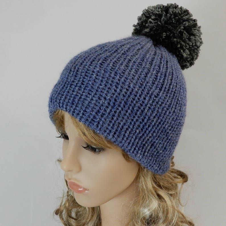 ff1b4a3198f32 Winter beanie hat women Knit pom pom beanie hat Reflective pom