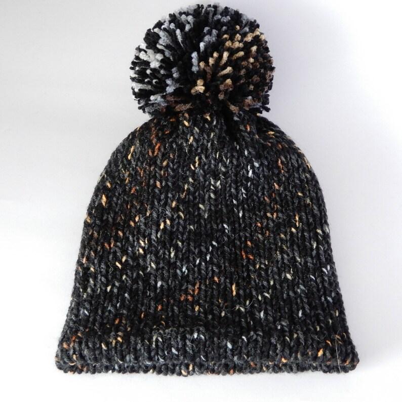 337e1f3369f53a Knit beanie hat women Winter beanie hat Pom pom beanie Winter | Etsy