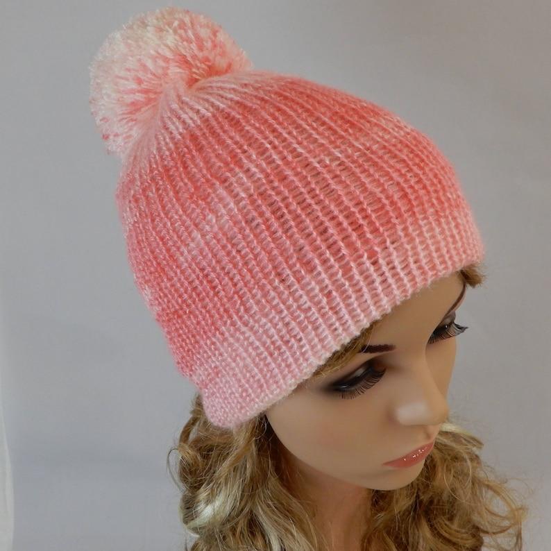 dc2a79b3768e8 Knit beanie women Pom pom beanie cap Knitted beanie hat Knit