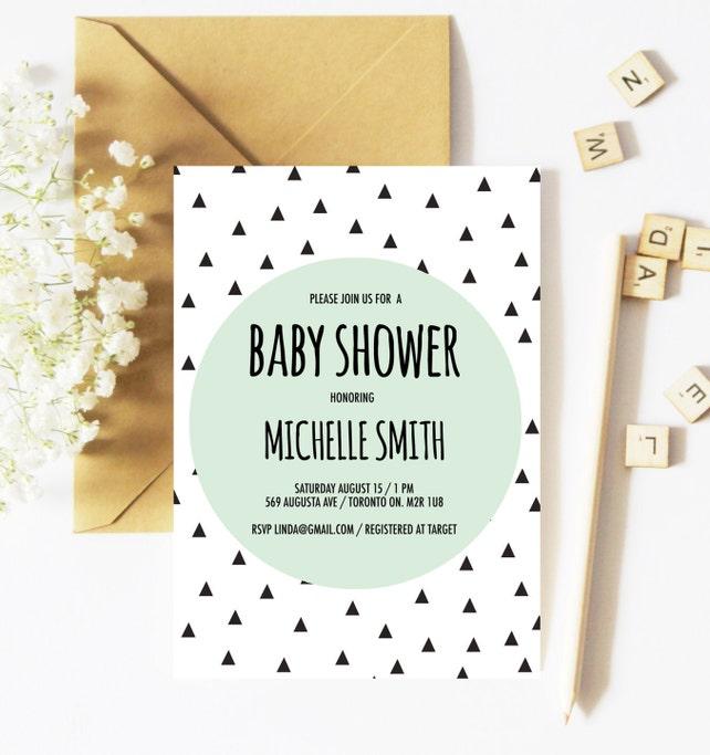 Baby shower invitation boy geometric baby shower invitation etsy image 0 filmwisefo