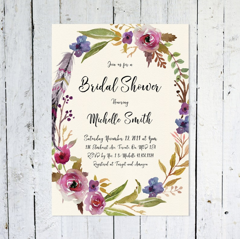 Bridal Shower Invitation Fall Bridal Shower Invitation image 0