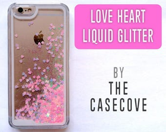buy popular 3b647 70c44 Pink Liquid Glitter Stars iPhone Case 7 Plus SE 4 4s 5 5s | Etsy