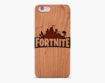 fortnite wooden engraved iphone case xr xs max x 5 5s se 6 7 8 plus battle royale iphone case fortnite logo iphone case real wood - fortnite cover iphone se