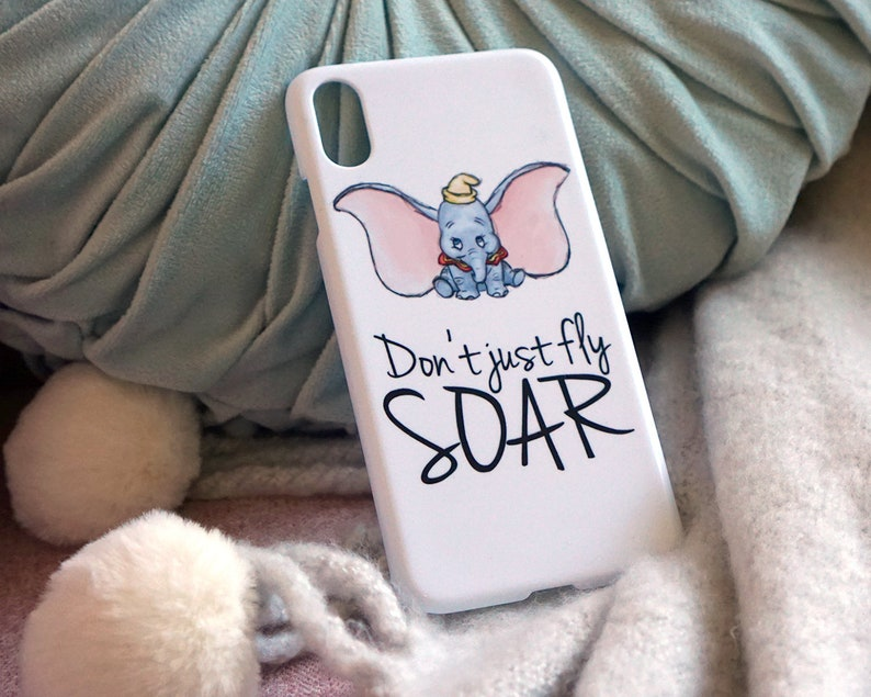 754b5cd287 Dumbo Hand Drawn Quote Disney iPhone Case XR XS Max X 5 5s SE