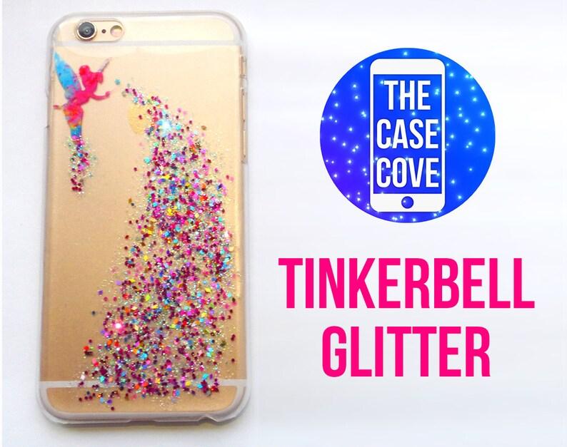 uk availability feeb7 3063a Tinkerbell Glitter Disney iPhone Case, 5 5s SE 6 7 8 Plus, Glitter Phone  Case, Tinkerbell iPhone Case, iPhone Glitter Case, Hard,