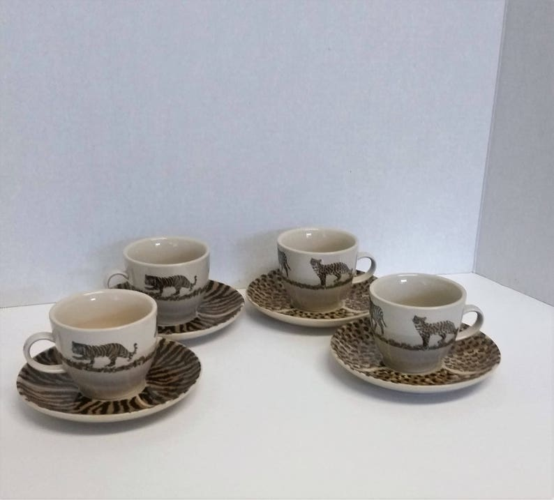 Verwonderend L. Dake & Zn tasse à thé et soucoupe 4 ensembles boire | Etsy QD-26