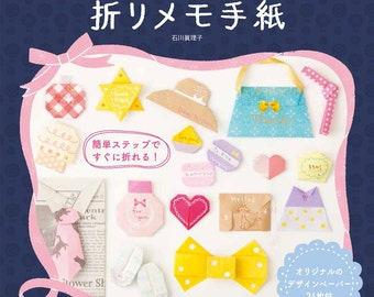 "Japanese How to make Origami Book ,""Cute folded note letter fashionable"""