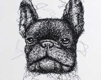 Französische Bulldogge Zeichnen Etsy