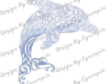 Dolphin zendoodle plot