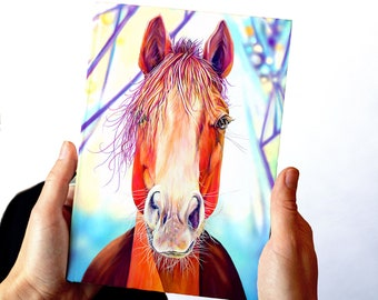 Horse Notebook, Journal, Blank or Lined Pages, Planner, Diary, Poetry Journal, Horse Lover Gift, Gift for Her, Gift for Girl